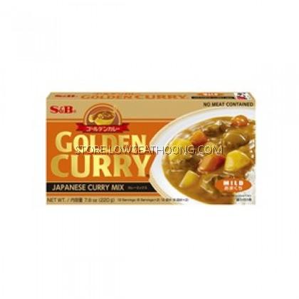 Japan Golden Mild Curry Mix 日式黄金微辣咖喱块 S&B - 220g/pkt
