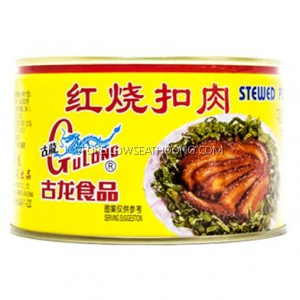 Tin Babi Hijau 红烧扣肉 (Stewed Pork) GULONG - 383g/24tin/ctn
